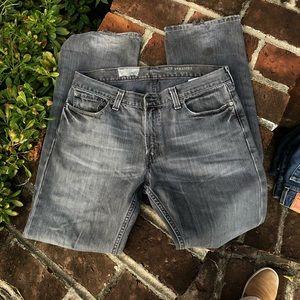 Levi's 514 slim straight black jeans size 34/32